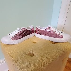 Pink Sequins Sneakers